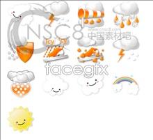 Beautiful weather forecast icon
