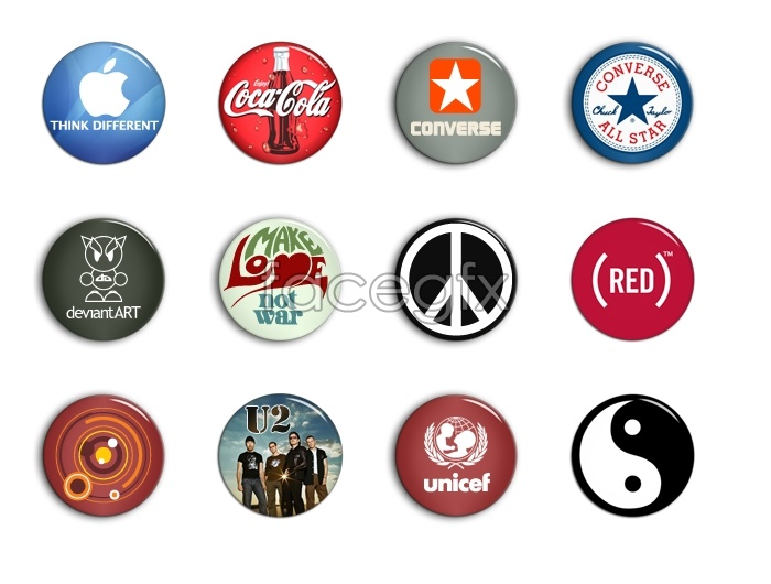 Brand logo design icons