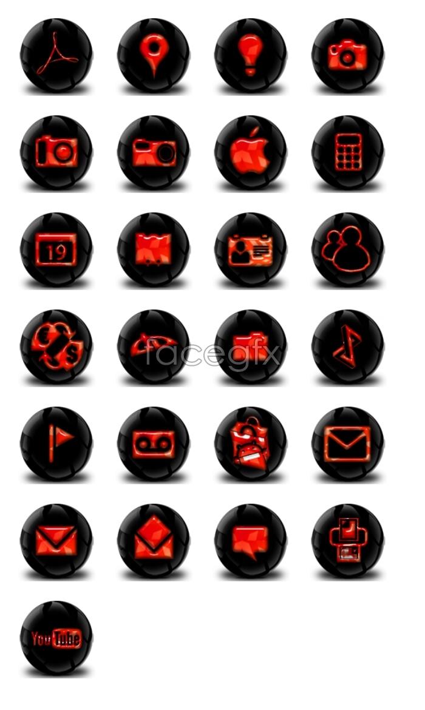 Dark design desktop icons
