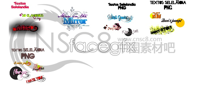 Fonts designed desktop icons