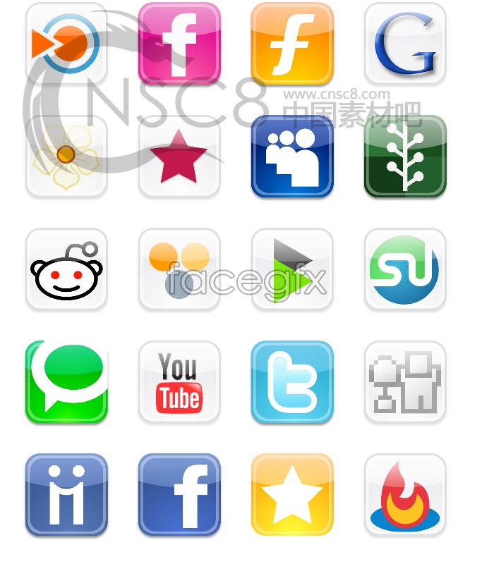 Logo button icons