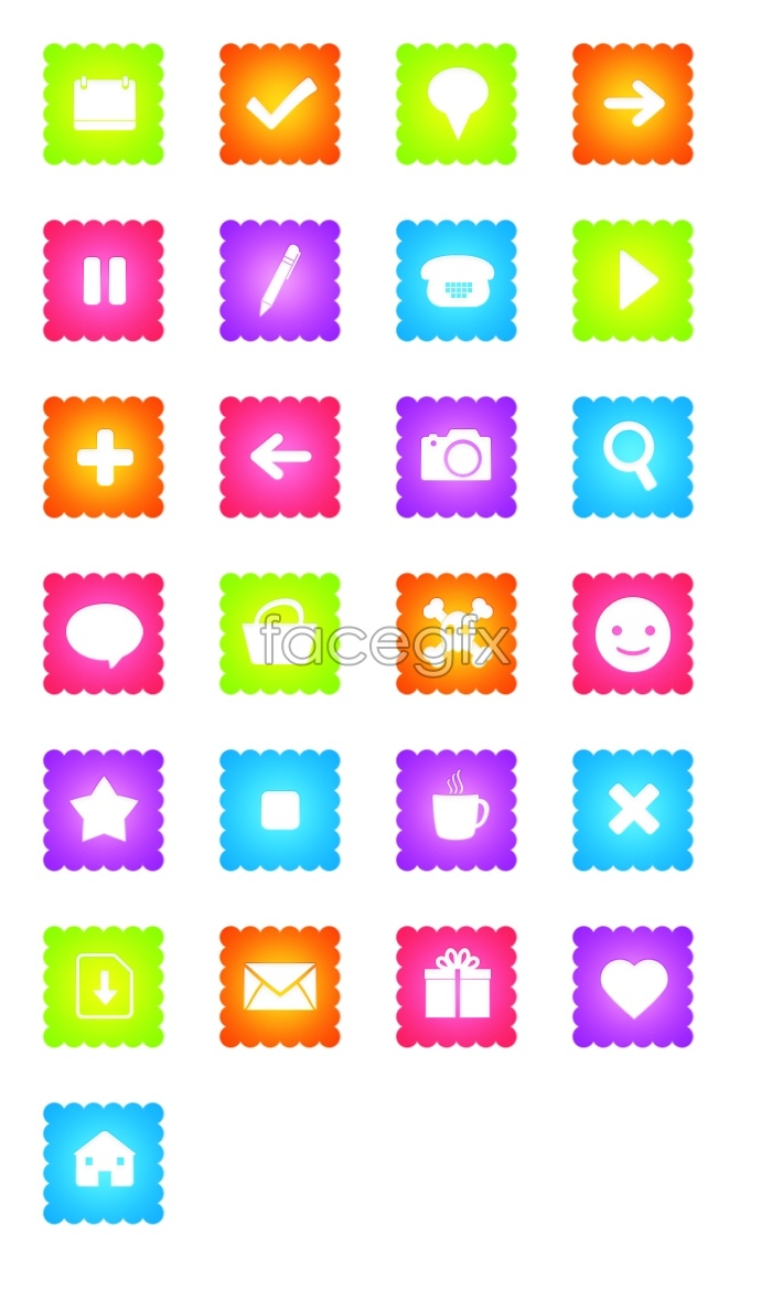 Blog page application icons
