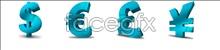 Currency symbol desktop icons