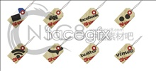 Hang tag design desktop icons
