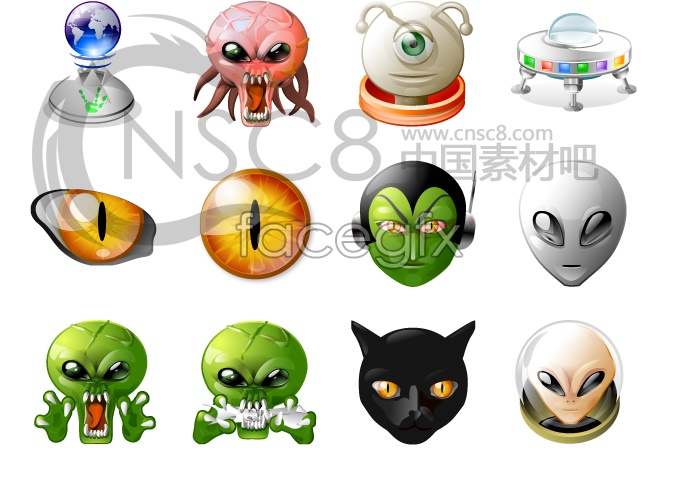 ET alien most clear icons