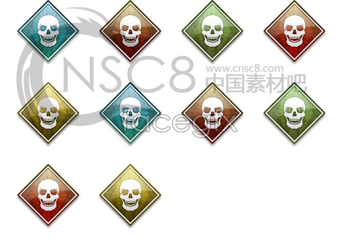 Non-mainstream skull icon