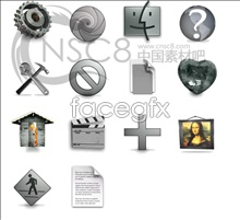 Gray tones series icons