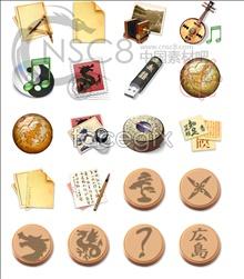 Japan wind desktop icons
