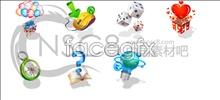 Korea style desktop icons