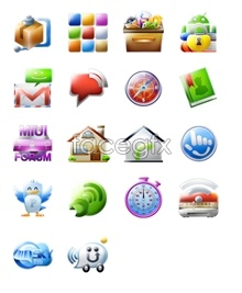 Mobile phone icon material  free