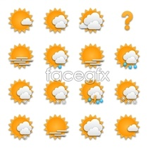 Orange weather forecast icons