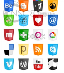 Stylish Web pages frequently used icons