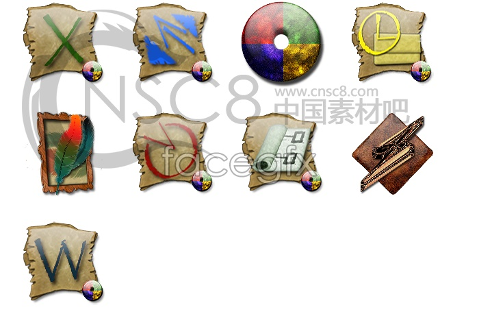 Classical desktop icons