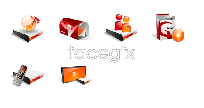 Crystal Orange computer icons