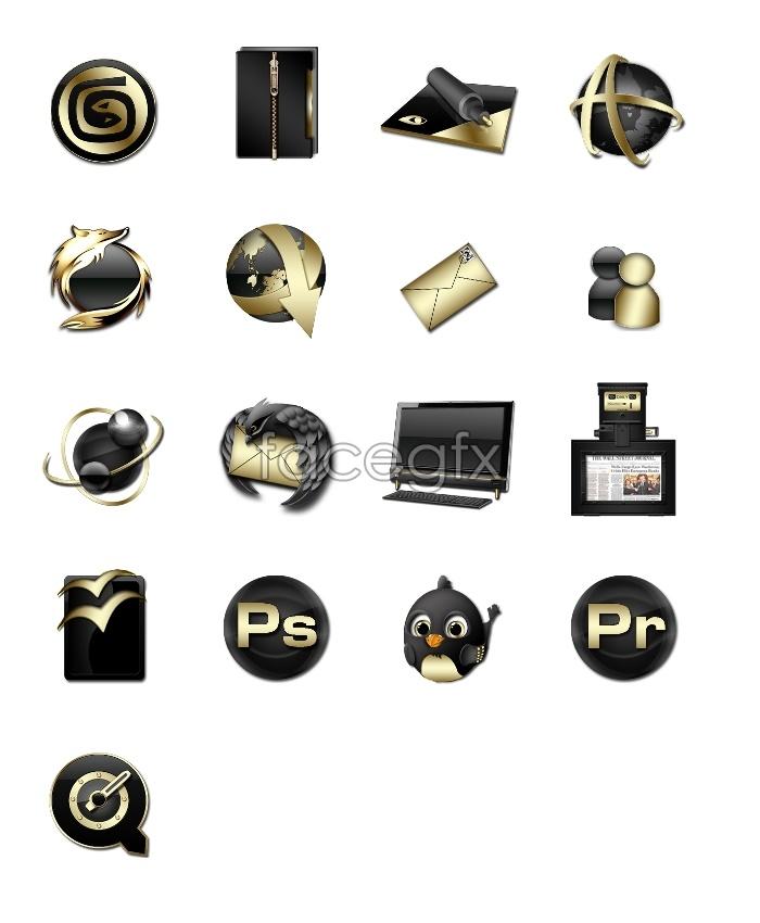 Metal wind desktop icons