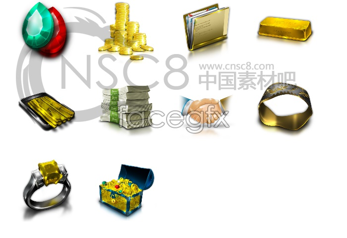Money wealth computer icons