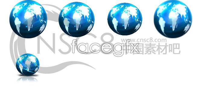 Blue world globe icon
