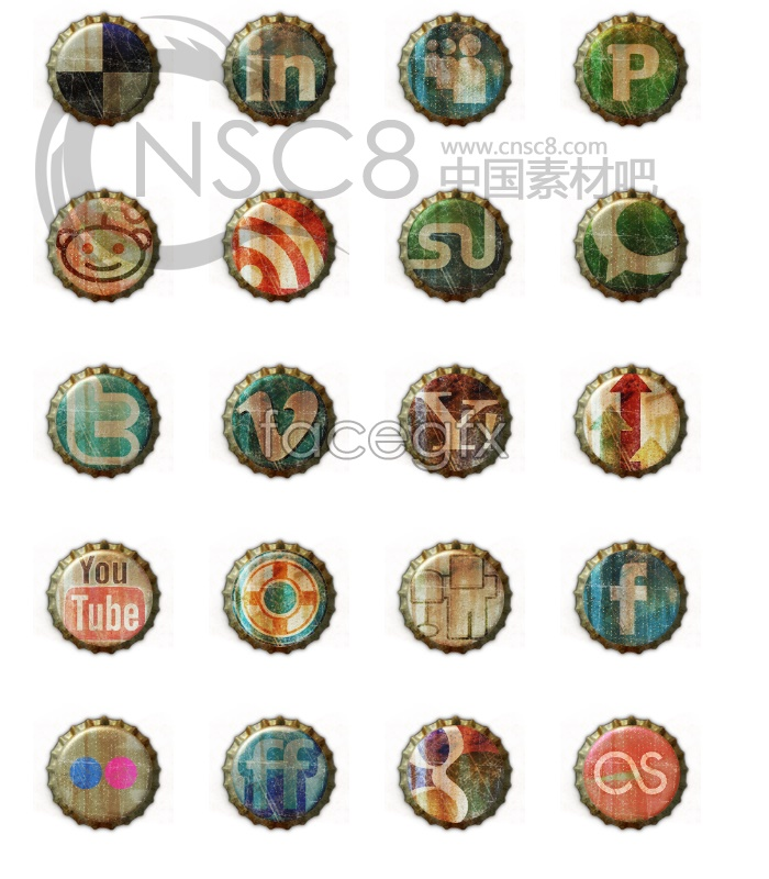 Crown Cork texture icons