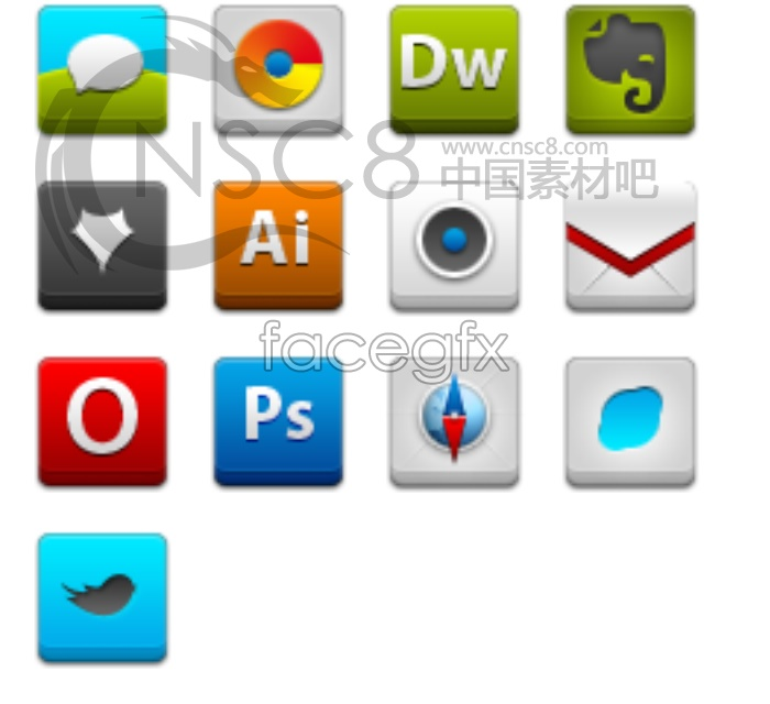 Website interface design icons
