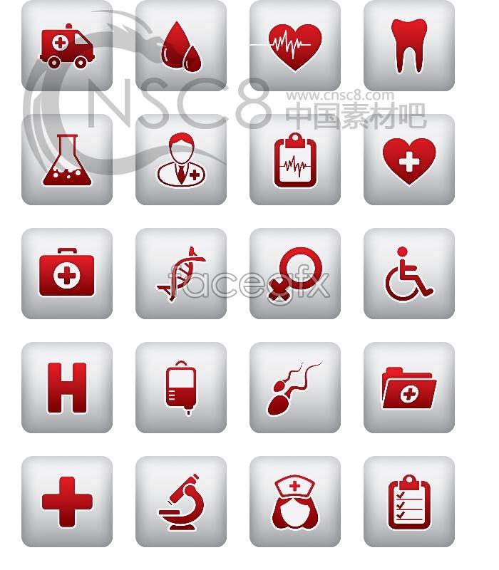 Medical theme desktop icons