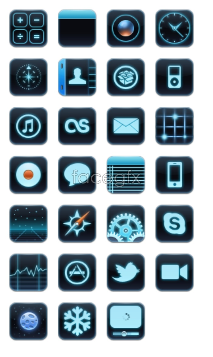Mobile development and application of small icons