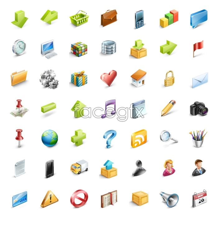 Small shopping Web design icons