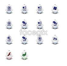 Blue and white porcelain file icon