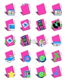 Pink computer icon for a folder