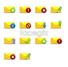 Yellow Mail desktop icons