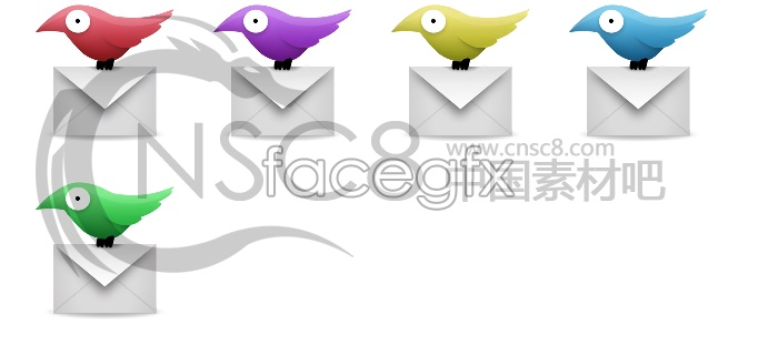 Flying Pigeon Mail desktop icons
