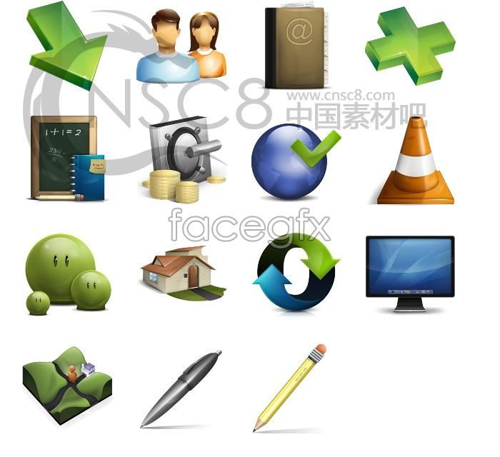High quality transparent icons
