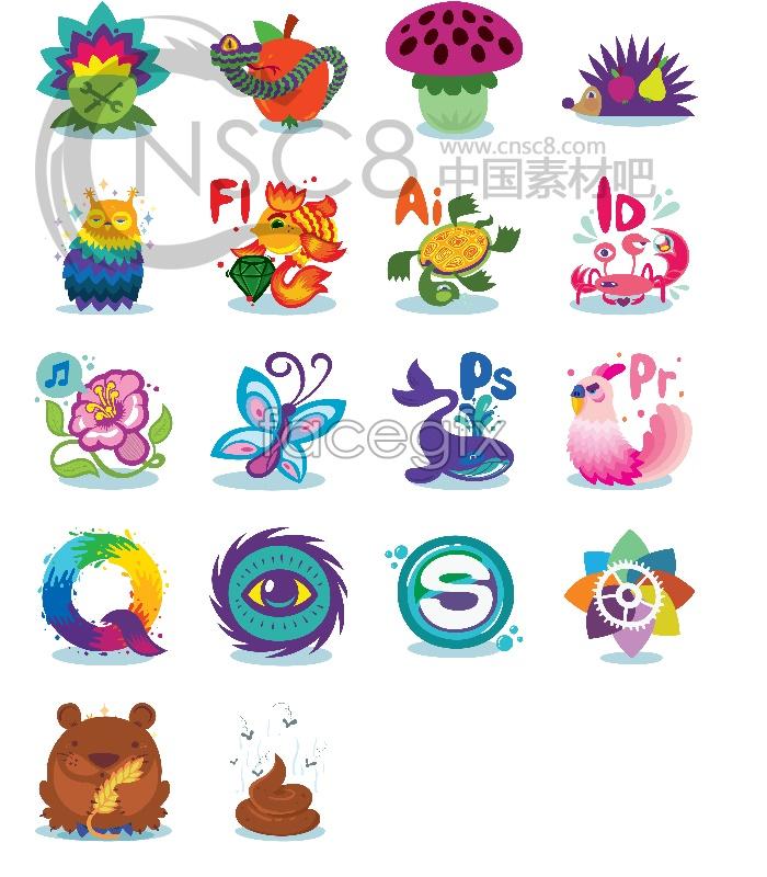Vector style desktop icons