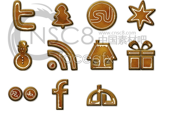 Leather designed desktop icons