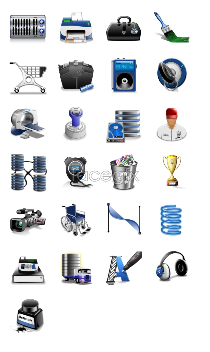Technology product computer icons