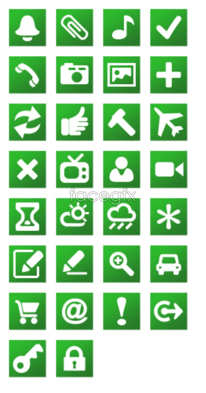 Web page design small icons