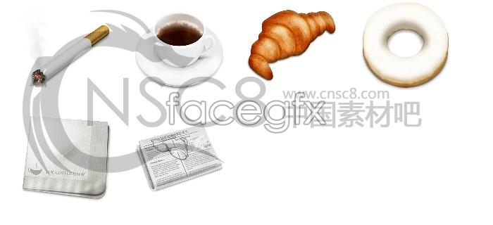 Cafe theme icons