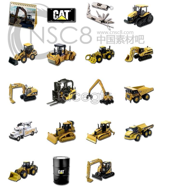Golden mechanical icons