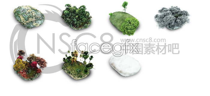Stone landscape desktop icons