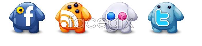 4 animal bookmark icon