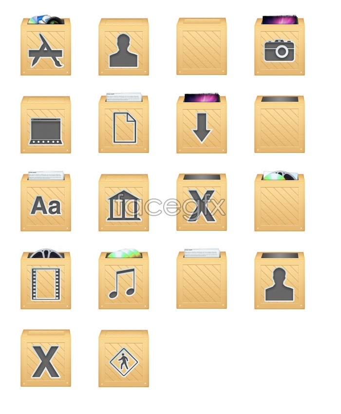 Mailbox-style computer icons