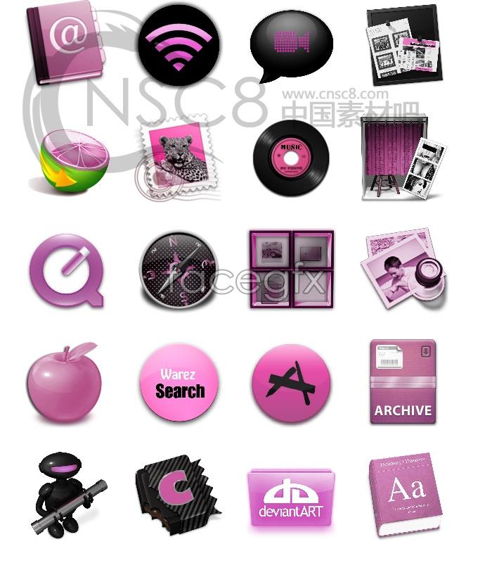 Purple computer icons
