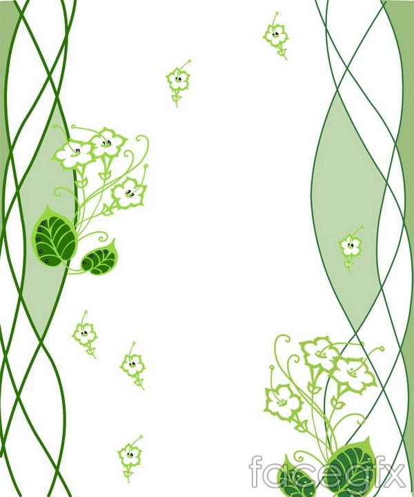 Line art flowers leaf sliding door designs PSD