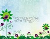Cute cartoon PSD background
