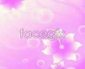 Pink circles design glass sliding door romance PSD