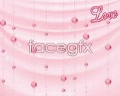 Pink wind chime designs sliding door PSD