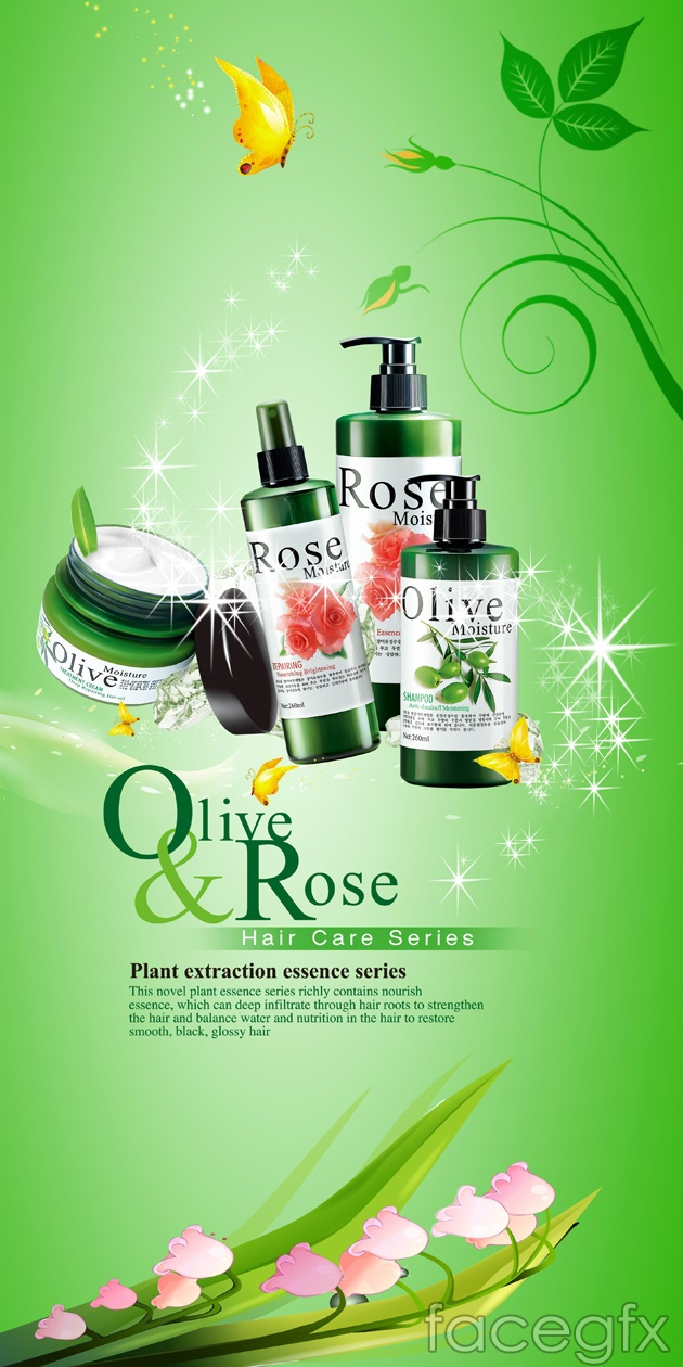 Beauty skin care product posters PSD | Free download