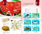 Seafood and fish head design PSD 02