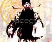 Paint face of Beijing Opera characters Bao footage PSD