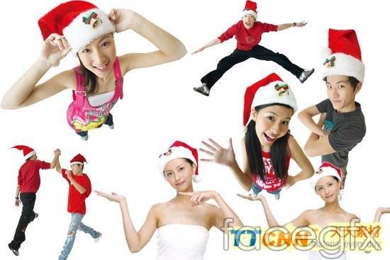 Beautiful Christmas Christmas Hat design PSD