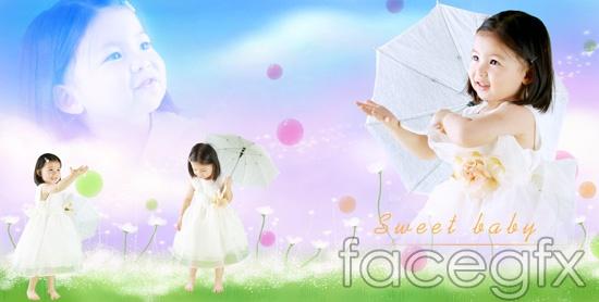 Fairy Princess child stubs PSD